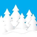 Tarjeta del árbol de navidad Imagenes de archivo