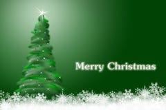 Tarjeta del árbol de navidad foto de archivo