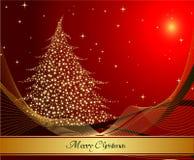 Tarjeta del árbol de navidad Fotografía de archivo