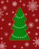 Tarjeta del árbol de navidad Imagen de archivo