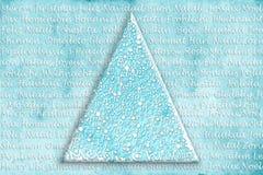Tarjeta del árbol de navidad en muchos lenguajes Foto de archivo libre de regalías