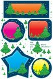 Tarjeta del árbol de Navidad pequeña Imagenes de archivo