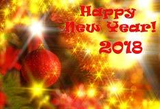 Tarjeta 2018 del Año Nuevo Imagen de archivo libre de regalías