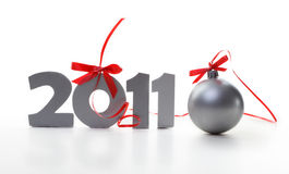 Tarjeta del Año Nuevo Fotografía de archivo