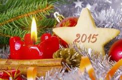 Tarjeta del Año Nuevo 2015 Imágenes de archivo libres de regalías
