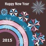 Tarjeta del Año Nuevo 2015 Foto de archivo libre de regalías