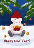 Tarjeta 2015 del Año Nuevo Imágenes de archivo libres de regalías