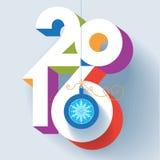 Tarjeta del Año Nuevo 2016 Imágenes de archivo libres de regalías