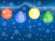 Tarjeta del Año Nuevo ilustración del vector