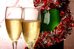Tarjeta del Año Nuevo Foto de archivo libre de regalías