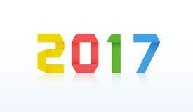 tarjeta del Año Nuevo 2017 stock de ilustración
