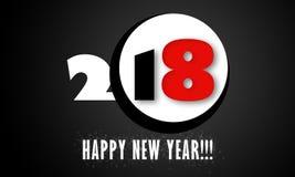 Tarjeta del Año Nuevo 2018 Foto de archivo libre de regalías