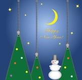 Tarjeta del Año Nuevo de las cremalleras de la ropa Imágenes de archivo libres de regalías