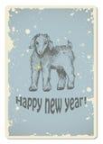 Tarjeta del Año Nuevo del vintage Imagen de archivo libre de regalías
