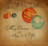 Tarjeta del Año Nuevo, estilo del vintage Foto de archivo libre de regalías