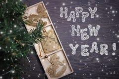 Tarjeta del Año Nuevo ¡Feliz Año Nuevo! Imagen de archivo