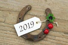 Tarjeta del Año Nuevo para 2019 Foto de archivo