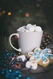 Tarjeta del Año Nuevo - taza Imagenes de archivo