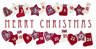 Tarjeta del advenimiento de la Navidad Imagen de archivo libre de regalías