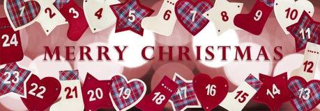 Tarjeta del advenimiento de la Navidad Fotos de archivo libres de regalías