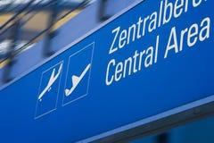 Tarjeta del aeropuerto Fotos de archivo