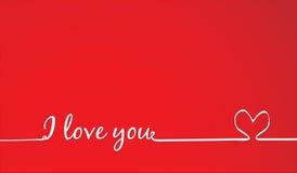 Tarjeta del amor Foto de archivo