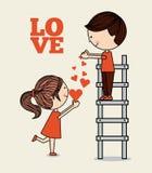 Tarjeta del amor Fotos de archivo libres de regalías