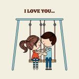 Tarjeta del amor Fotografía de archivo
