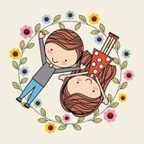 Tarjeta del amor Imagen de archivo