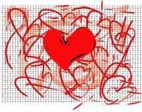 Tarjeta del amor Fotos de archivo