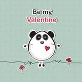Tarjeta del amor con el oso de panda Fotos de archivo