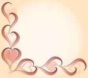 Tarjeta del amor con los corazones Imágenes de archivo libres de regalías