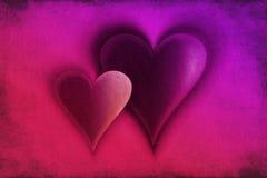 Tarjeta del amor con tema de los corazones Foto de archivo