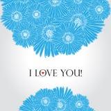 Tarjeta del amor de la flor Imagen de archivo libre de regalías