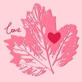 Tarjeta del amor decorativo, fondo Fotografía de archivo libre de regalías