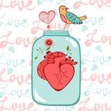 Tarjeta del amor del concepto Foto de archivo libre de regalías