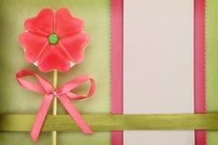 Tarjeta del amor del saludo o de la invitación Foto de archivo libre de regalías
