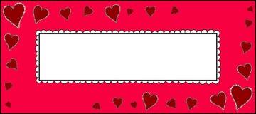 Tarjeta del amor del vector Fotografía de archivo