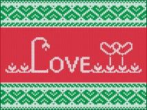 Tarjeta del amor que hace punto Imagenes de archivo