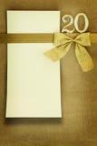 Tarjeta del aniversario Foto de archivo libre de regalías