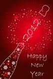 Tarjeta del Año Nuevo 2012 Fotos de archivo libres de regalías