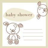 Tarjeta del aviso de la ducha de bebé stock de ilustración