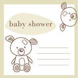 Tarjeta del aviso de la ducha de bebé Imagenes de archivo