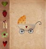 Tarjeta del aviso de la llegada del bebé Imagen de archivo libre de regalías