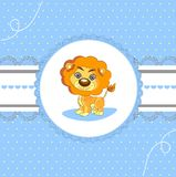 Tarjeta del aviso de la llegada del bebé del diseño de tarjeta Imagen de archivo libre de regalías