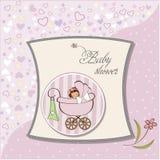 Tarjeta del aviso del bebé Foto de archivo libre de regalías