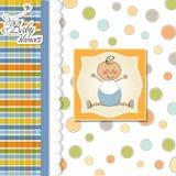 Tarjeta del aviso del bebé Foto de archivo