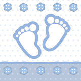 Tarjeta del aviso del bebé Imagenes de archivo