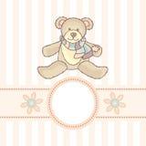 Tarjeta del bebé Imagenes de archivo