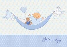 Tarjeta del bebé Fotos de archivo libres de regalías